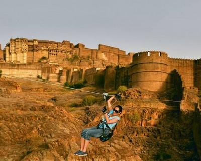 Zip Lining at Jodhpur