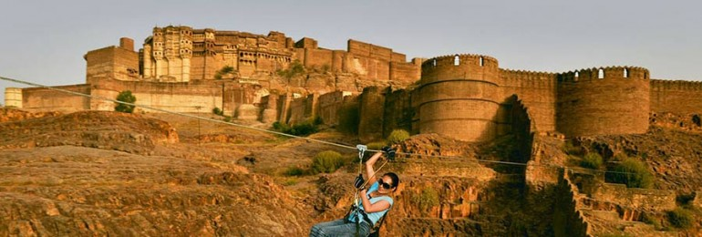 Zip Lining at Jodhpur