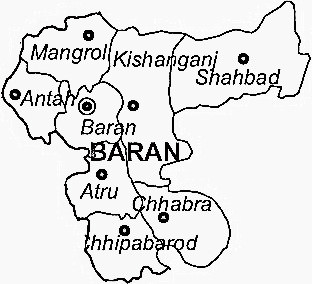 Baran District Map