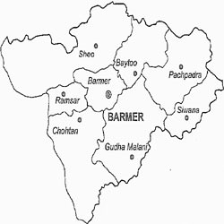 Barmer District Map