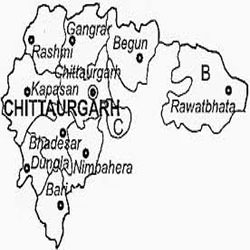 Chittorgarh Map