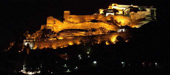 Kumbhalgarh Fort at Night