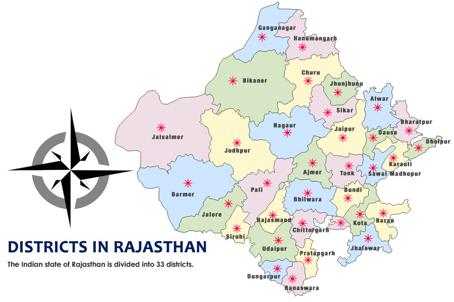 Image result for rajasthan map political MAP