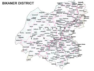 Bikaner District Road Map