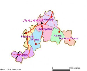 Jhalawar District Map